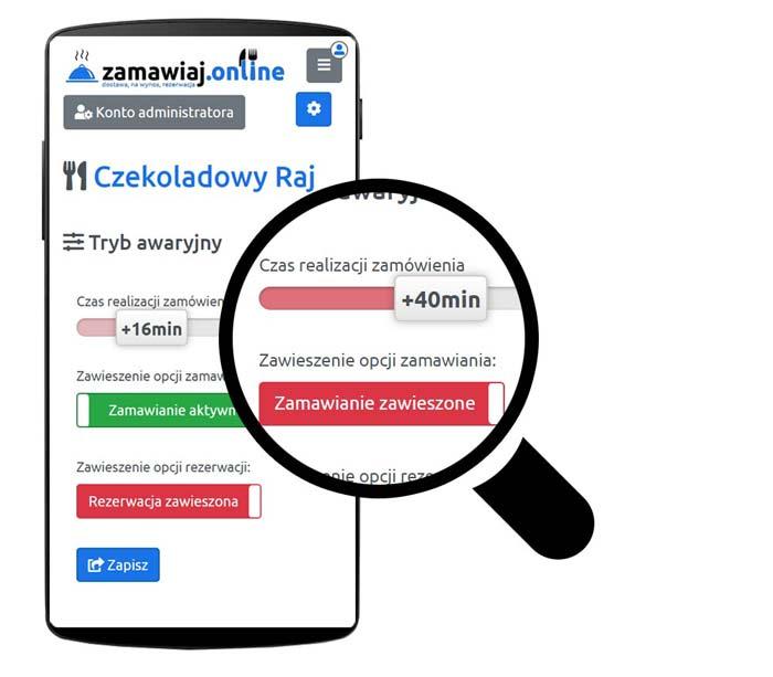 interaktywne menu zamawianie online tryb awaryjny