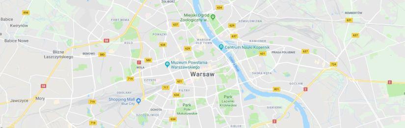 Mapa dojazdowa na stronie www