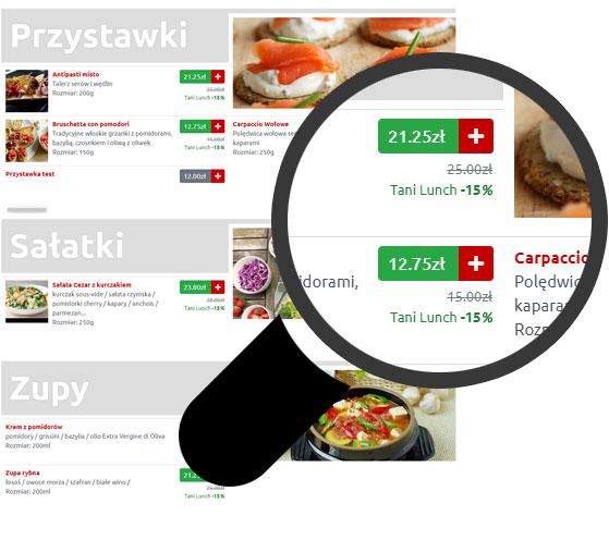 zamawianie jedzenia online na stronie restauracji